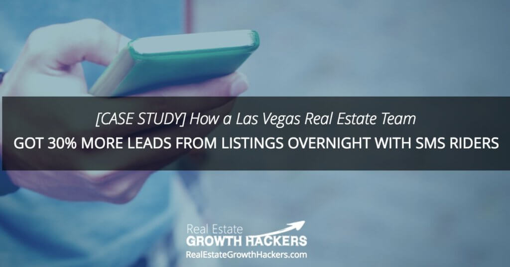 Blog Image- [Case Study] How a Las Vegas Real Estate Team Got 30% More Leads From Listings Overnight with SMS Rider